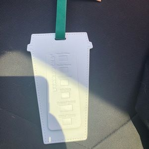 Starbucks luggage tag